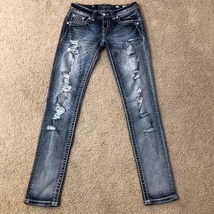 Miss Me Designer Destroyed Thick Stitch Jeans